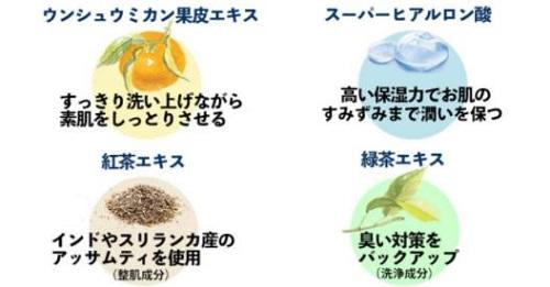 体臭対策ボディソープ「薬用からだまるごとデオ・ソープEX」保湿成分